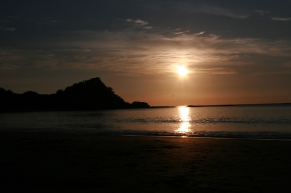 One of the many beautiful sunsets that we saw in Costa Rica