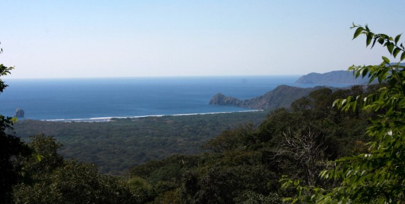 View at Playa Naranjo from vista point