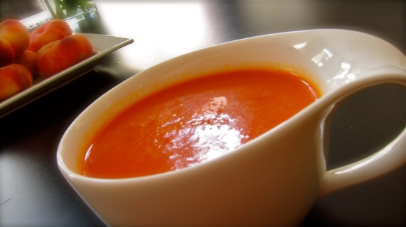 I have a suspicion that I could never refuse a sip of delicious gazpacho!