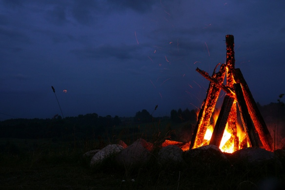 Midsummer bonfire. Photo credit: Janitors